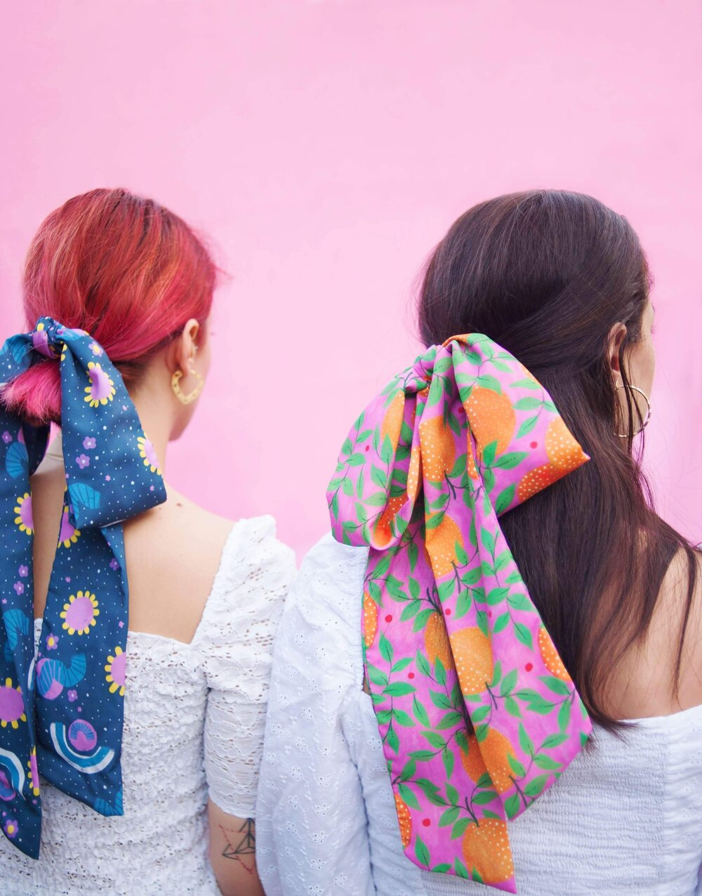 Hair scarves by Cherry and Mint