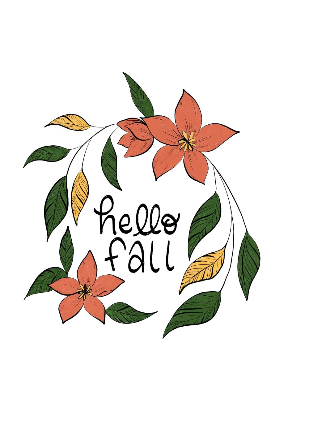 Student project by Dena Wilmette for Skillshare Top Teacher Dylan Mierzwinski's class,  Illustration Practice: Lettering & Florals With Adobe Fresco