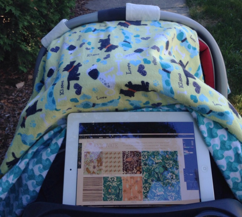 Esther's view as she multi-tasks, taking a Bonnie Christine Skillshare class while on a walk in 2015 (image courtesy of the artist)