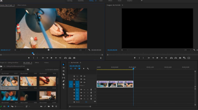 Adobe Premiere Pro can be used for post production editing to piece raw footage together into a cohesive story.