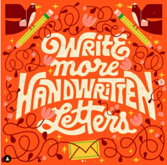 """""""Have you stocked up on stamps? I have! And I'm ready to put them to use (aside from my mail-in ballot) ? I'm starting a new project called Handwritten Letters!..."""""""