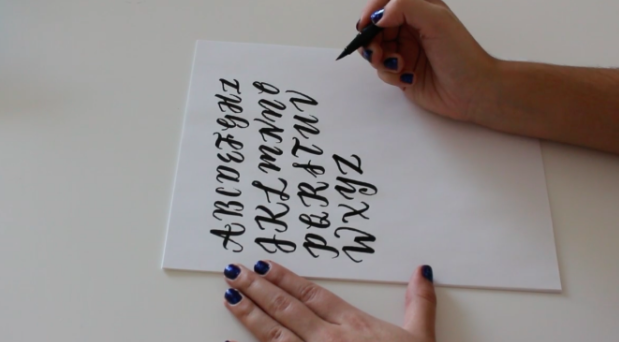 Photo courtesy of  Brush Lettering Made Simple  by   Andrea Campos via Skillshare