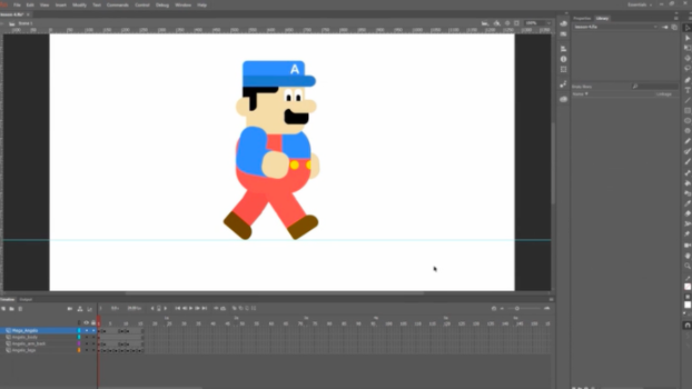 Adobe Animate 2D animation software enables you to create basic vector characters and easily animate them.