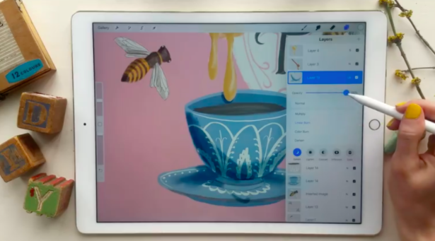 Procreate is a popular tool, available on the iPad, for designing digital illustrations.