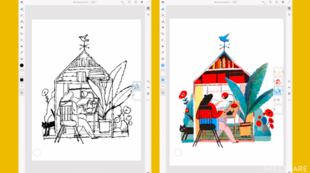 Adobe Fresco is an app primarily used for digital painting and drawing.