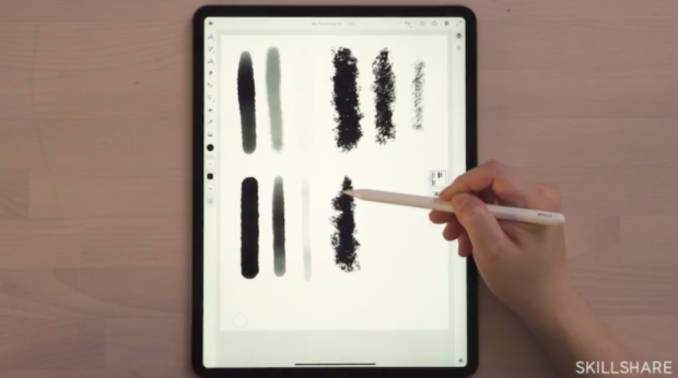 The wide variety of brushes available in Adobe Fresco allows you to create nearly any artistic effect.