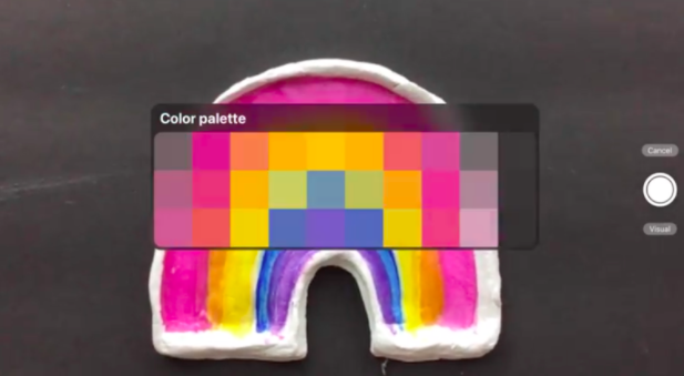 With Procreate 5X's custom color palette feature, you can generate a new color palette in real time using your iPad's camera.