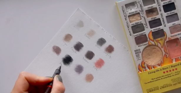 An eyeshadow palette based on color theory.