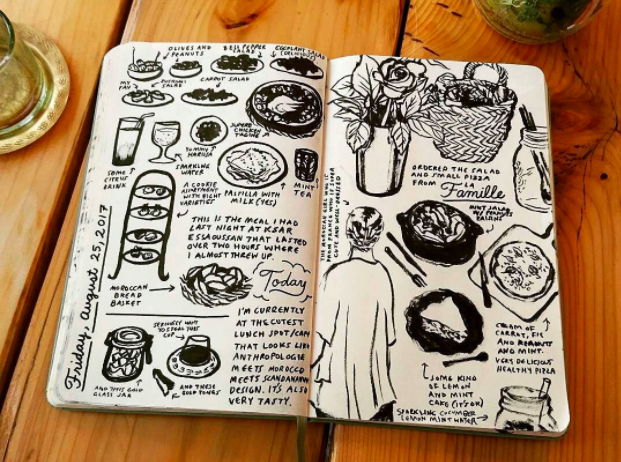Image of Paulina Ho's sketchbook art provided by the artist.