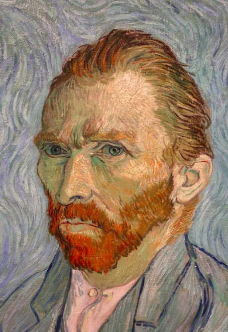 One of many famous self-portrait artists, Vincent Van Gogh created this self portrait in 1889, featuring his unmistakable solemn stare and red facial hair.