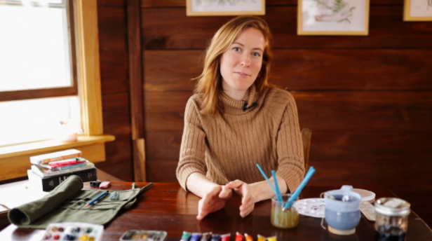 From a rustic cabin in the mountains, Rosalie Haizlett brings nature to life with paints.