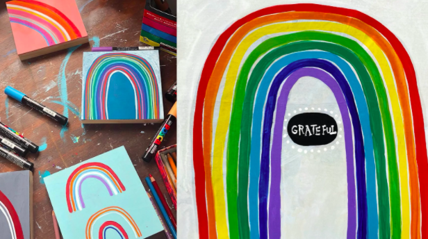 Self care is critical, and rainbows are just the start—let yourself heal through painting.
