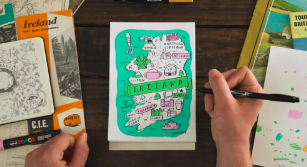 Kids will love learning to create colorful, detailed travel maps of their favorite places.