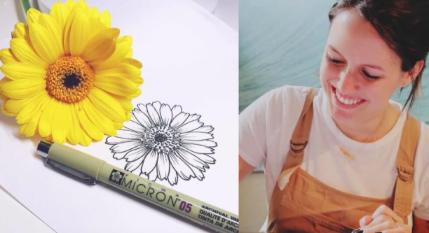 Pick a flower and use it as floral inspiration for this line-drawing course.