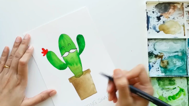 This whimsical cactus is easy to create and sure to brighten your day.