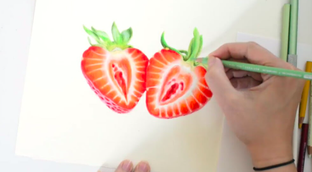 In this kid-friendly tutorial, colored pencils are used to create beautiful and realistic images.