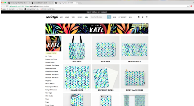 Society6 makes it easy to create a beautiful online store for selling original art online.]