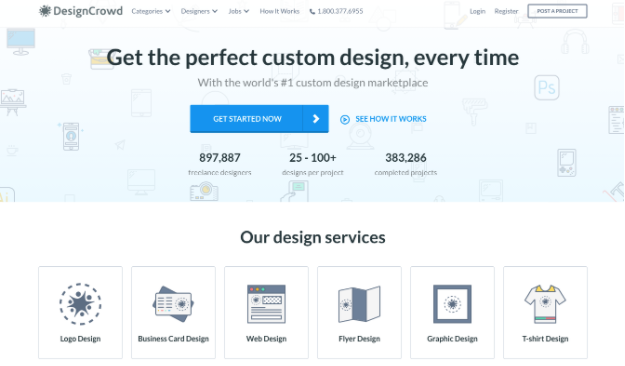 DesignCrowd turns client projects into contests to attract designers' best work.