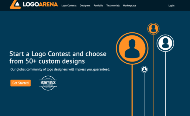 Logo Arena helps customers find great logo designers from all over the world.