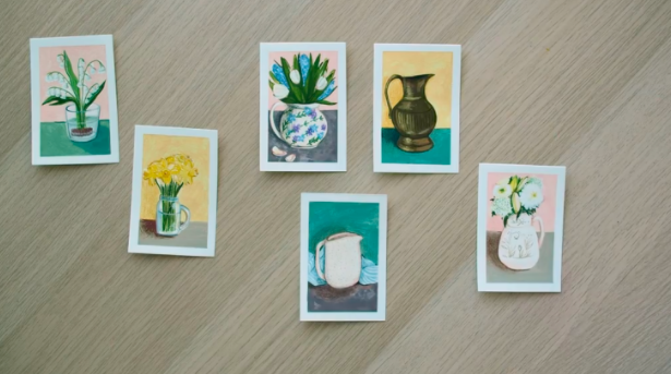 Skillshare teacher Alanna Cartier used acrylic gouache to create these vibrant paintings with layers of detail.