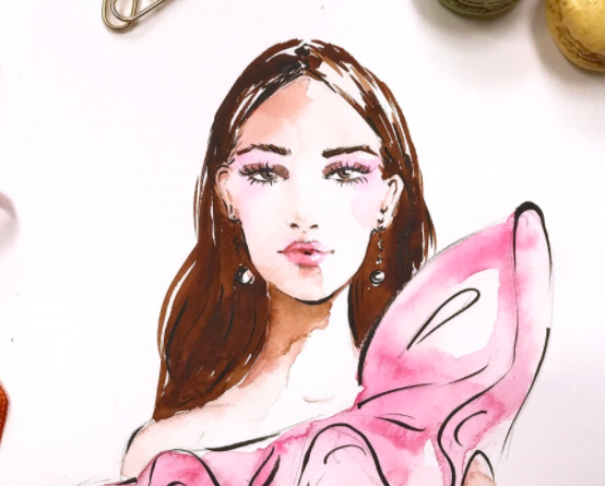Adding color makes fashion face illustrations even more beautiful!