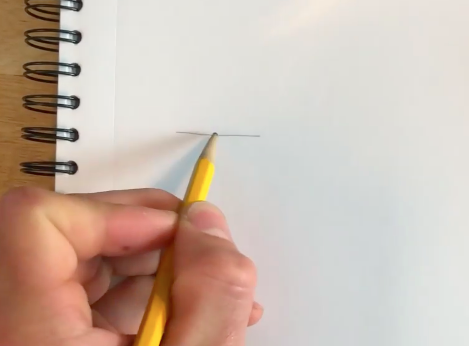 The base of your tree drawing can be as simple as a thin, straight line.