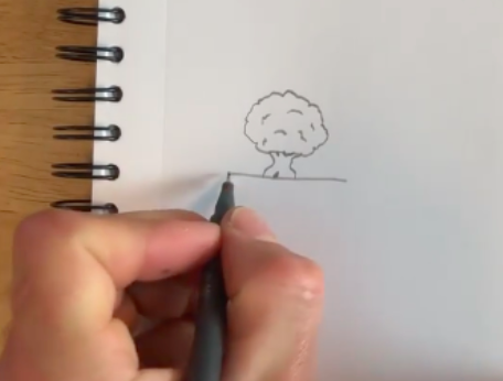 By adding a few more lines, you can create a lot of detail within your simple tree drawing.