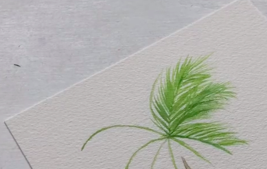 Be sure to finish your palm tree leaves with pencil, markers, or even paint!