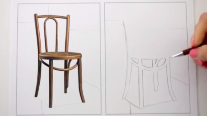 Drawing the space around the chair—not the chair itself—can improve your accuracy.