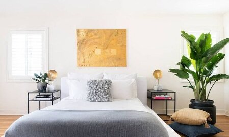 Linda Hayslett's bedroom design will make you want to get to bedtime ASAP.