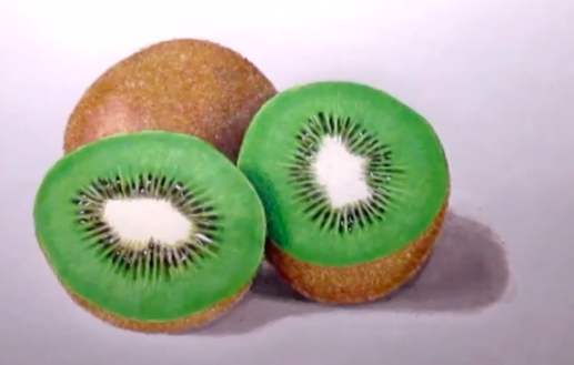 Expert color and shading techniques bring these kiwis by Skillshare instructor Jasmina Susak to life.