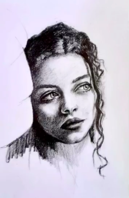Pencil portraits are simple, yet still can show plenty of emotion.