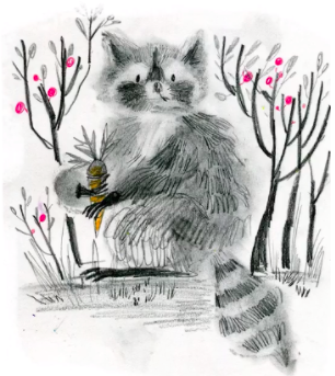 This cute raccoon by illustrator Dream Chen is more creative than realistic—but we love him all the same.