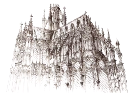 This grand cathedral is another Pawlikowska creation.