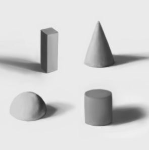 Skillshare student Corinna M. uses shading to add depth to these shapes.