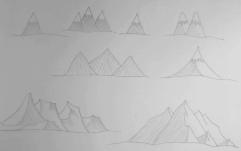 Using simple lines and shading, Skillshare instructor John Anderson shows how anyone can learn how to draw mountains.