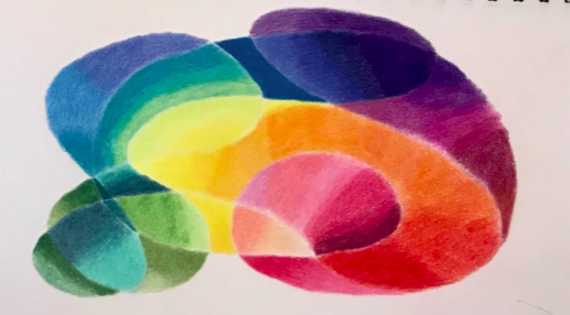 Abstract drawings, like this one from Skillshare student Johanna R., are a great way to practice shading and gradients.