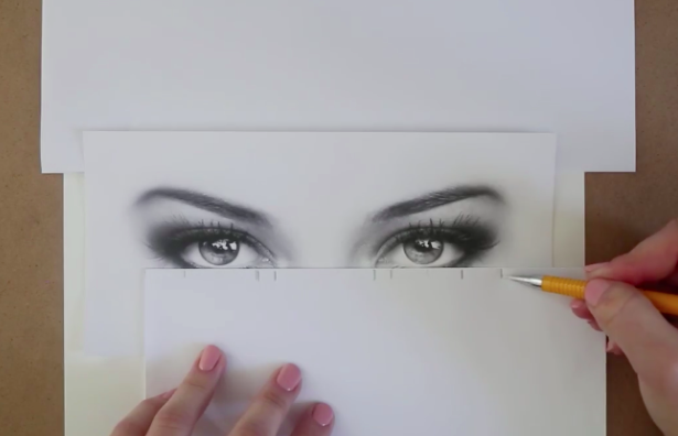 Measure based upon your reference photo to ensure that your eye drawing is the correct size.