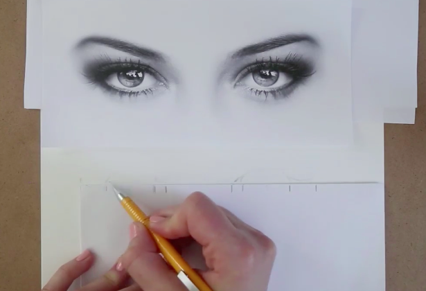 Your measurements will ensure the correct shape and size for your eye drawing.
