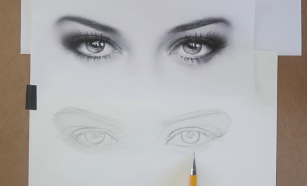 Start shading with a light wash over your entire drawing.