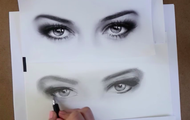 Shading brings your realistic eye drawing to life!