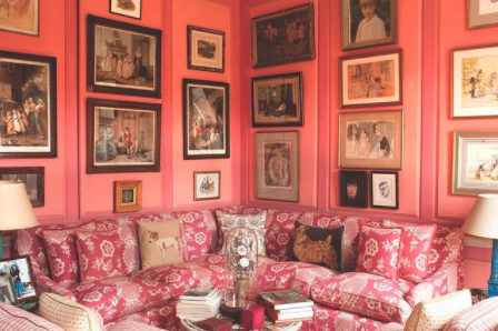 This living room design by Kathryn M. Ireland draws heavily on English influences.