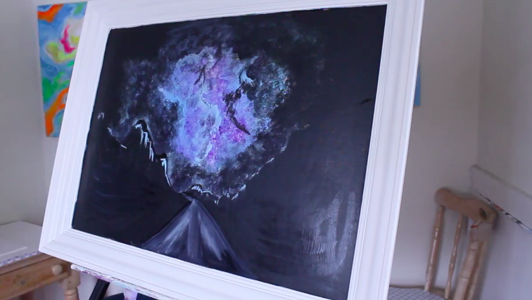The night sky fills the canvas for this project.