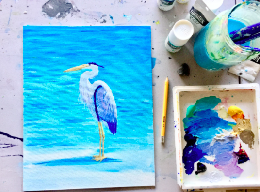 If blue is your favorite color, then you will love this painting!