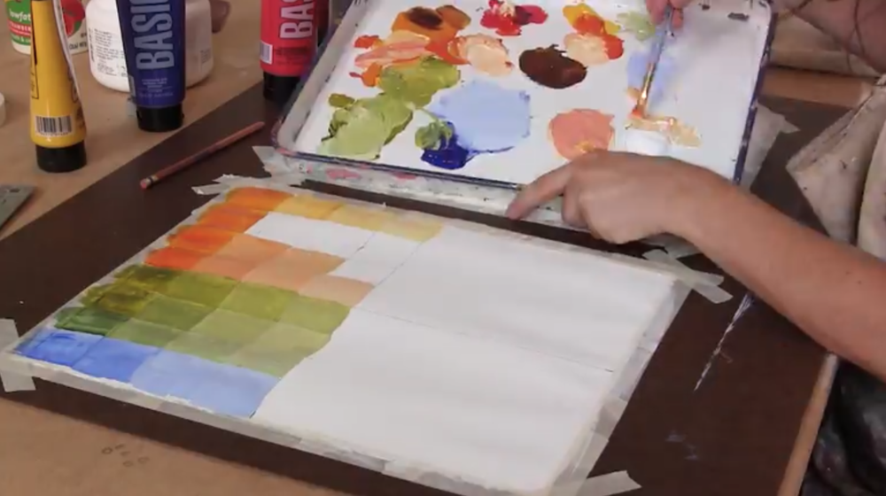 Acrylic paints are great for beginners to work with, especially when learning how to mix paint colors for the first time.