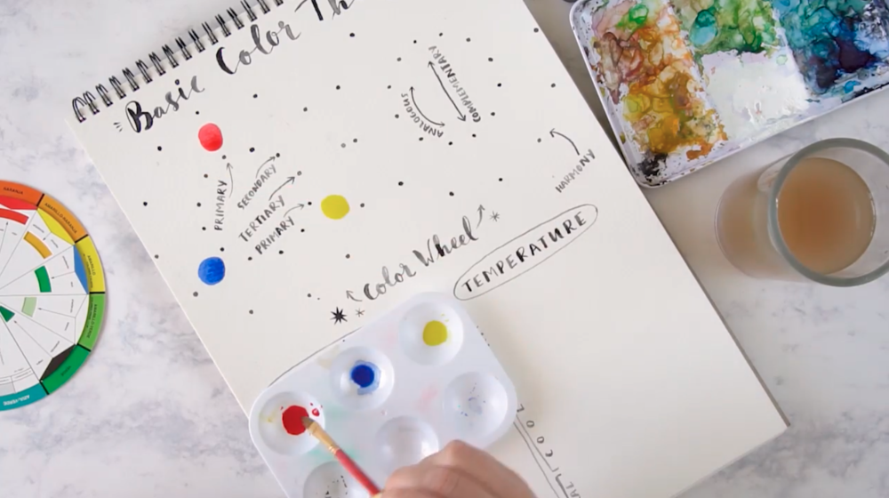 Watercolors are known for their runny texture, so working with a dipped palette or dish can help you keep control over your color mixing.