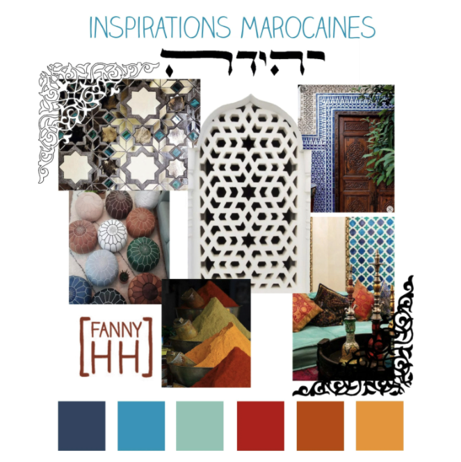 Fanny Achache created this mood board for a Moroccan-inspired design in Procreate for  Chris V's class .