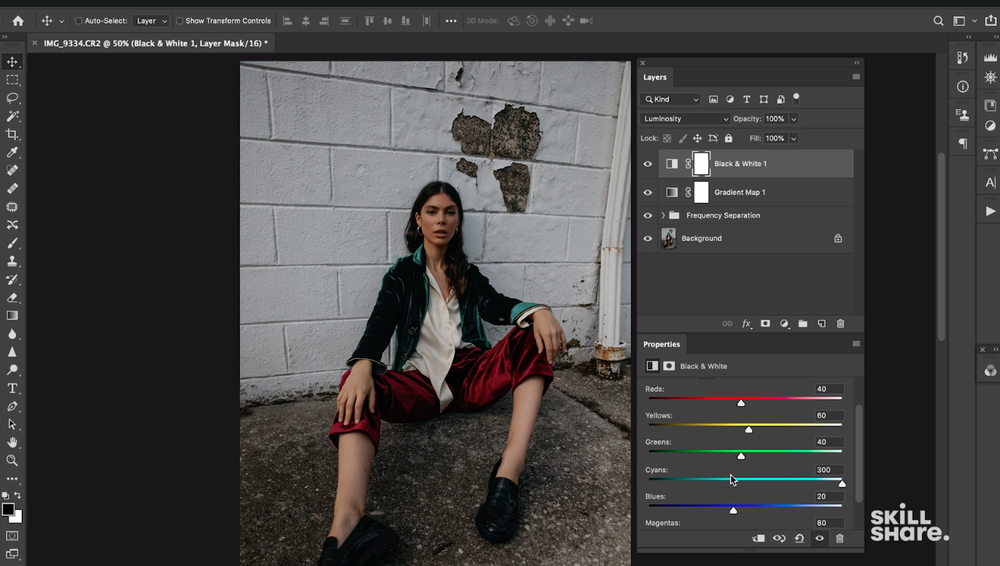 Skillshare instructor and photographer Jessica Kobeissi edits one of her photos in Photoshop.