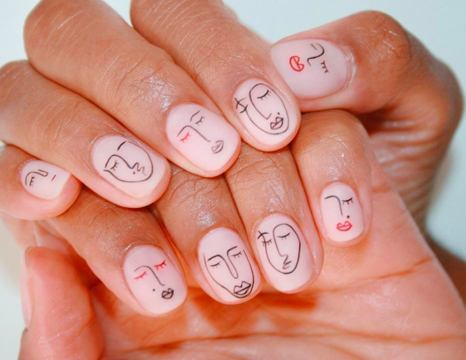 Portrait nails
