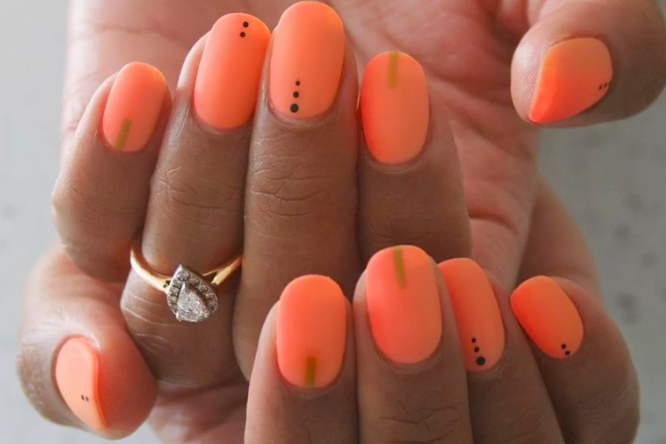 Dotted nails are simple to create!